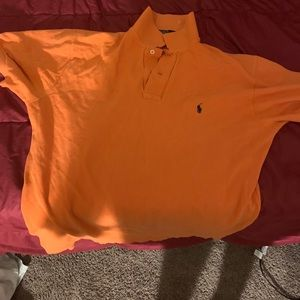 Polo by Ralph Lauren Shirts - Orange polo shortsleeved collared shirts